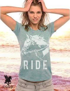 NEW ride equestrian BURNOUT shirt  S L XL by coup on Etsy