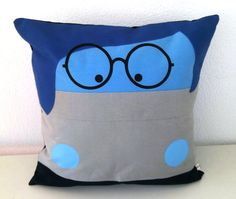 Inside out Sadness inspired cushion cover Pillowcase 16x16 inches 40x40cm