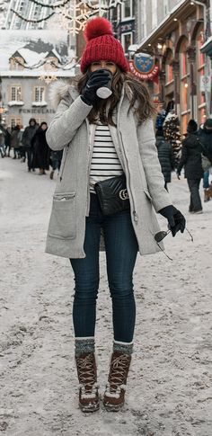 Pin od magda na moda winter outfits, mode i frauen outfits. Casual Winter Outfits, Winter Travel Outfit, Winter Outfits Women, Winter Fashion Outfits, Autumn Winter Fashion, Outfit Winter, Winter Wear, Winter Snow Outfits, Ootd Winter