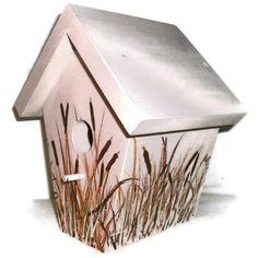 Bird House Handmade Hand Painted Bird House by JuliesGiftbox