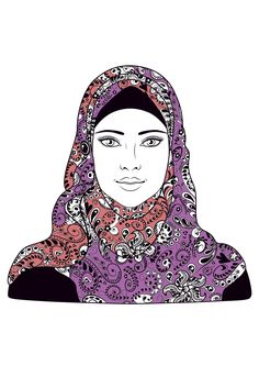 Woman headscarf - Oriental Coloring Pages for Adults - Just Color Pattern Coloring Pages, Printable Adult Coloring Pages, Free Coloring Pages, Coloring Books, Turkish Pattern, Les Themes, Digital Stamps, Illustrations, Oriental