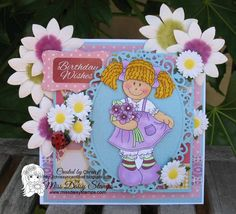 Raggedy Girl Daisy Mae on card sample designed by Chrissy www.chrissyscardland.blogspot.com
