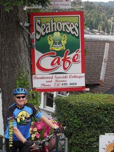 Lunch on last day in Brentwood Bay