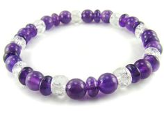 BA6206 Amethyst Clear Quartz Healing Natural Crystal Stretch Bracelet - See more at: http://waggashop.com/wagga-shop-ba6206-amethyst-clear-quartz-healing-natural-crystal-stretch-bracelet