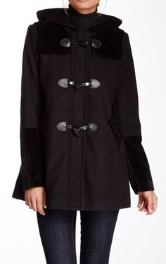 BCBG | Toggle Coat with Hood Would love this in red!!