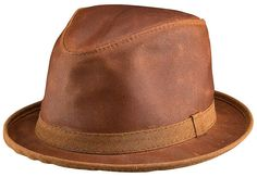 8769b051392 Ashbury Brand Soho Copper Leather Fedora Hat by Head n Home Handmade Hats  Trilby Hat