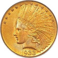PCGS graded and CAC approved MS-65 1933 Eagle ($10 gold coin), from the NOC consignment, sold for $822,500.