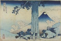 Mishima Pass in Kai Province; Thirty-six Views of Mount Fuji; Thirty-Six Views of Mount Fuji   Katsushika Hokusai   V&A Search the Collections