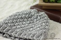 Emily Diagonal Beanie Free Crochet Pattern ⋆ Rescued Paw Designs Crochet by Krista Cagle