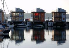 Die Wasserhäuser in Flensburg Sonwik