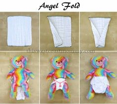 Cloth diaper angel fold