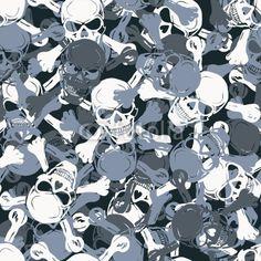 vector skull pattern | Vector: Vector. Seamless skull camouflage pattern