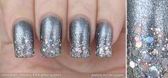 pewter + holo glitter gradient