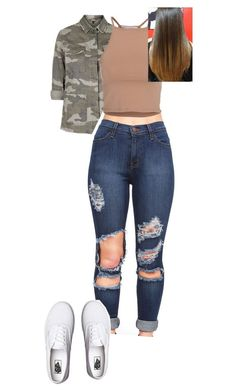 """""""Untitled #575"""" by kaykayxolove ❤ liked on Polyvore featuring Topshop, NLY Trend and Vans"""