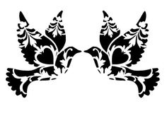 by LoveStencil on Etsy Stencils, Stencil Templates, Stencil Patterns, Stencil Designs, Animal Stencil, Bird Stencil, Stencil Art, Stencil Wood, Damask Stencil