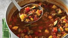 Vegetable beef soup recipe or stew is one of those 'go to' recipes during the wintertime. Soup keeps you warm, and this soup along with many others. Beef Soup Recipes, Vegetable Recipes, Cooker Recipes, Herb Recipes, Paleo Soup, Mexican Vegetables, Tender Steak, Hamburger Soup, Crock Pot Slow Cooker