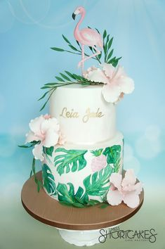Tropical Flamingo Party cake