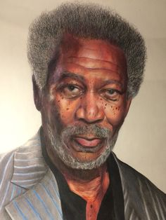 Morgan Freeman portrait  #drawing #art #artwork #portrait #morganfreeman