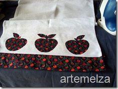 ARTEMELZA -  Arte e Artesanato: Como colocar barra em pano de prato.