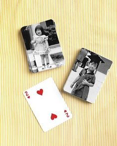 """See the """"Personalized Playing Cards"""" in our 9 Creative Ways to Display Photos at Your Wedding gallery"""