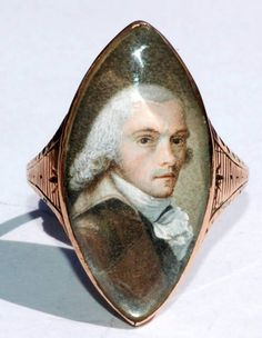 A rare portrait ring, Paris, circa 1790, of Maximilien Robespierre [1758 - 1794], French lawyer and politician and author of the 'Reign of Terror'.