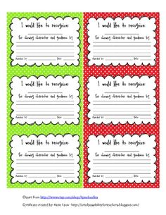 Recommended grades Students award each other w/these! Use these cute certificates to have students recognizing and awarding their peers for good character and kindness. Organization And Management, Behavior Management, Classroom Organization, Classroom Management, Classroom Ideas, Elementary School Counseling, Elementary Schools, Teaching Tools, Teaching Kids