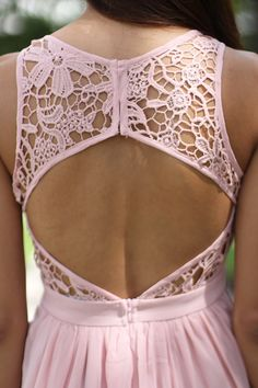 I don't think I'd like this dress long but the backs really pretty