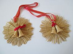 Corn Dolly, Handmade Ornaments, Tassels, Christmas Crafts, Weaving, Hair Accessories, Vintage, Etsy, Bamboo