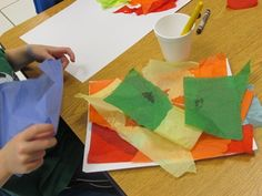 """A beautiful post about """"process not product"""" in children's art."""