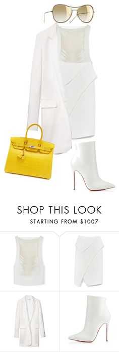 """""""12 Days Of Hermès: Christian Louboutin Boots, Tom Ford Top, Hermès Birkin Bag."""" by jadiior ❤ liked on Polyvore featuring Proenza Schouler, Reed Krakoff, Hermès and Chanel"""