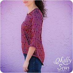 High Low Shirt Tutorial and Pattern - Melly Sews