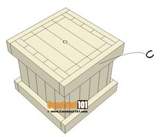 2x4 Planter Box Plans   Free PDF Download - Construct101 Wood Projects That Sell, Diy Pallet Projects, Woodworking Projects Diy, Planter Box Plans, Wood Planter Box, Diy Wooden Planters, Wooden Diy, Home Design, Diy End Tables