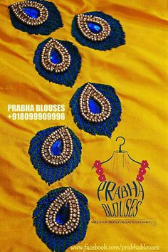 Thread embroidery simple and beautiful Diy Zardosi Embroidery, Hand Work Embroidery, Hand Embroidery Designs, Beaded Embroidery, Embroidery Patterns, Creative Embroidery, Embroidery Fashion, Simple Blouse Designs, Blouse Neck Designs