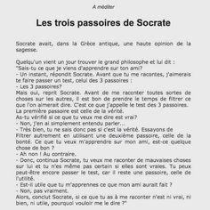 Les 3 passoires de Socrate