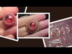 Iceflower bracelet with Swarovski rivoli part 1 Beading Tutorial by HoneyBeads (Photo tutorial) - YouTube