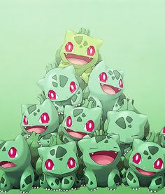 Also the bulbasaur. SO CUTE.