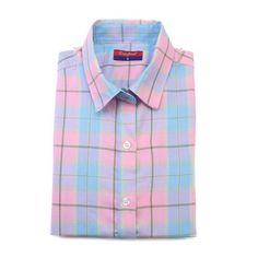 Brand New Women Tops Casual Cotton Plaid Shirt Women Long Sleeve Turndown Collar Blusas Femininas Plus Size Plaid Shirts