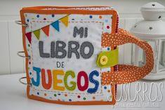 Un libro genial, hecho con telas de colores para que juegen los bebes