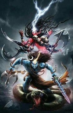 Mahakali and Shiva the ultimate and original power couple defeating the evils Shiva Tandav, Rudra Shiva, Shiva Parvati Images, Krishna, Photos Of Lord Shiva, Lord Shiva Hd Images, Shiva Lord Wallpapers, Angry Lord Shiva, Aghori Shiva