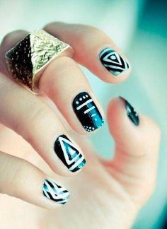 Dramatic Nail Designs For Short Nails