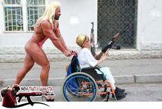 Wheelchair A Guns - Now That's Gangsta