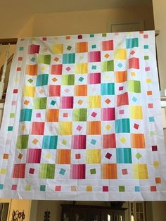 in other fabrics, this would make a good manly man quilt. Strip Quilts, Easy Quilts, Small Quilts, Children's Quilts, Quilting Tips, Quilting Projects, Quilting Designs, Quilt Block Patterns, Quilt Blocks