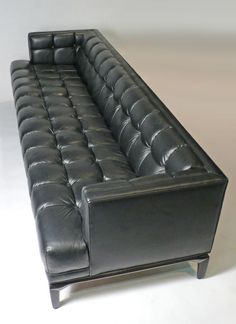 Maurice Bailey; Lacquered Wood and leather Custom Sofa for Monteverdi-Young, 1960s.