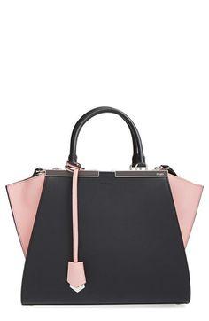 Fendi 3Jours Bicolor Leather Shopper