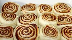 I have been searching for the perfect cinnamon rolls for years. Basically, I've been aiming for a recipe that was close to the ones we were served when I was in school. While most people th… Cinnamon Recipes, Baking Recipes, Dessert Recipes, Desserts, Bread Recipes, Cinnabon Cinnamon Rolls, Cinnamon Bread, Cinnamon Rolls From Scratch, Dinner Rolls Recipe