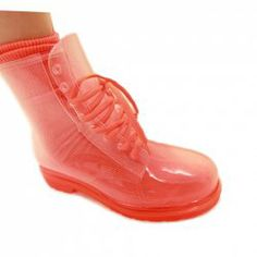 $10.79 Fashionable Women's Waterproof Boots With Candy Color and Transparent Design