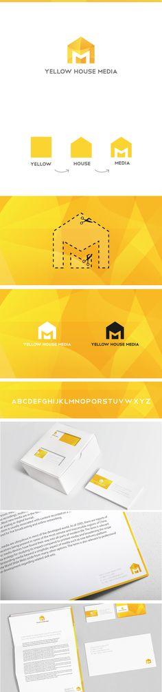 Yellow house media branding & logo