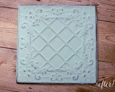 Tin tiles painted diy