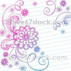 Sketchy Doodle Flowers Vector Illustration by blue67 by blue67design, via Flickr