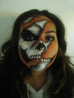 In a perfect world, I would have the patience to do this...Skeleton Face Paint
